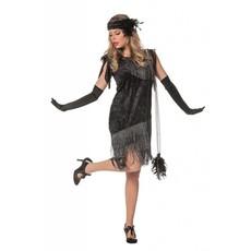 Jaren 20 jurkje zwart de luxe