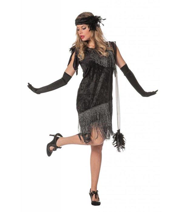 Jaren 20 kostuum zwart de luxe