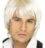 Boy band pruik kort blond