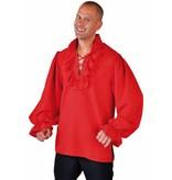 Piraten blouse rood