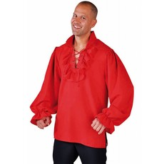 Piraten blouse rood