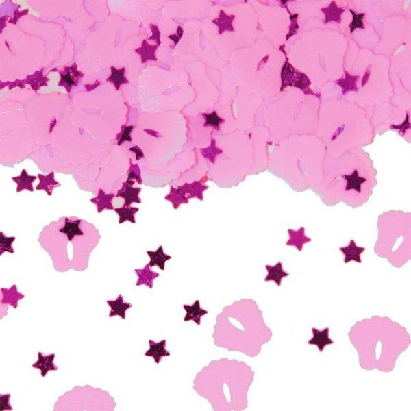 Roze Tafelconfetti - Geboorte Meisje