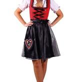 Dirndl Manon Rood/Zwart