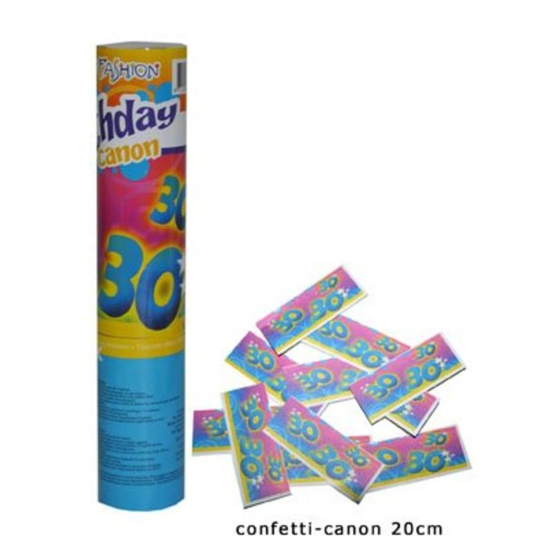 Confetti kanon verjaardag 30