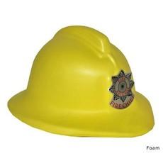 Gele brandweerhelm kind foam