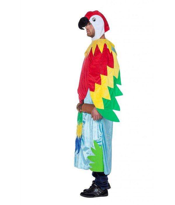Papegaai in boom kostuum