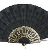 Waaier embroidery zwart