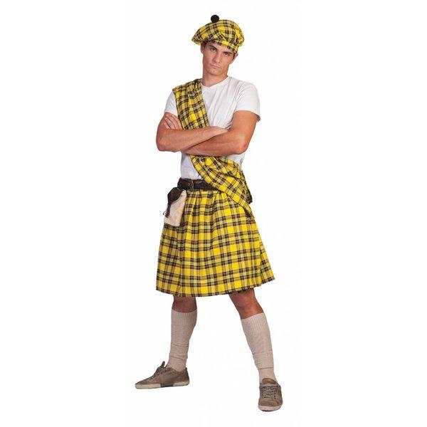Schotse Highlander pak man geel
