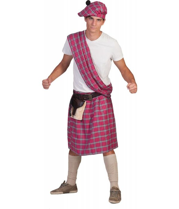 Schotse Highlander pak man pink