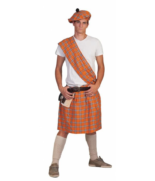 Schotse Highlander pak man oranje