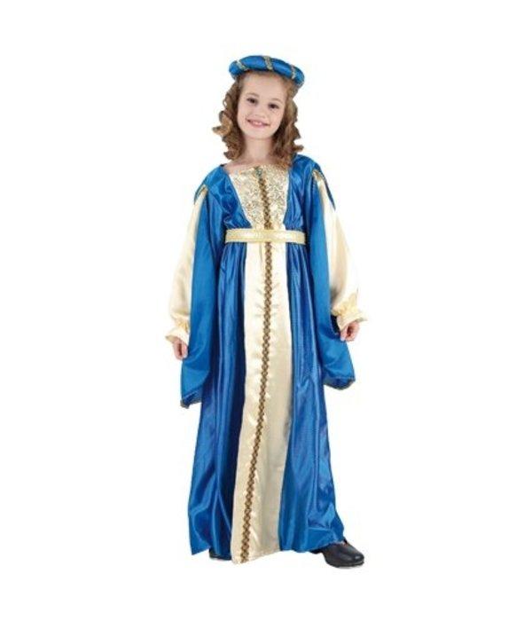 Blauwe prinses kostuum kind