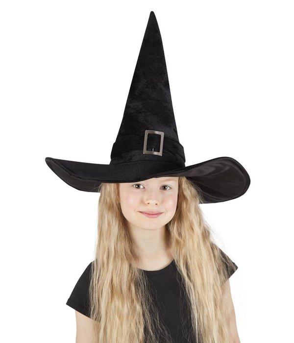 Hoed heks Kendra kind zwart