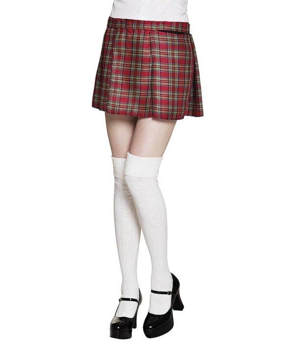 Schotse kilt vrouw rood