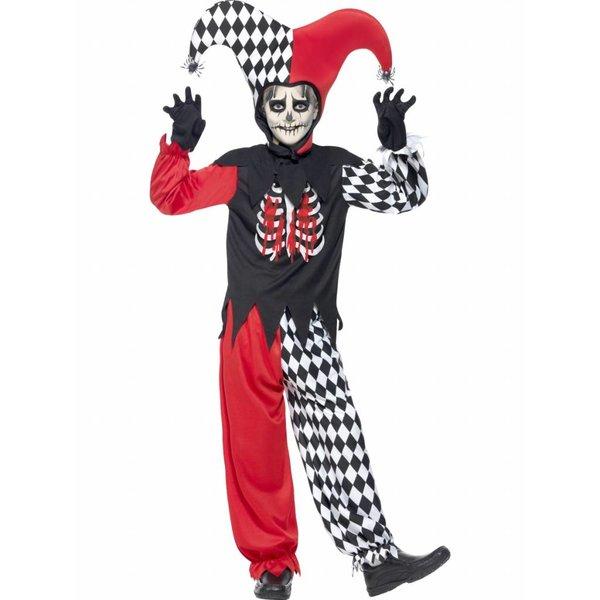 Bloedstollende Narren kostuum kind Halloween