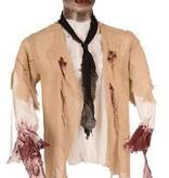 Halloween decoratie Zombie mes door hoofd elite