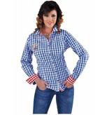 Oktoberfest blouse elite blauw/wit