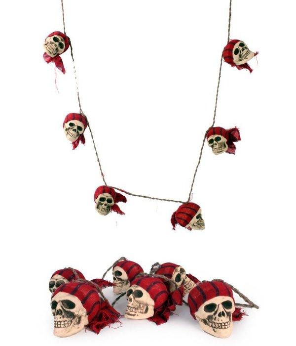 Touw met piratenschedels halloween