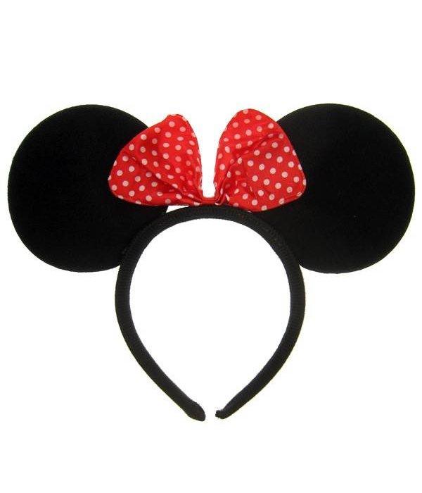 Hoofdband Mini mouse oren met strikje