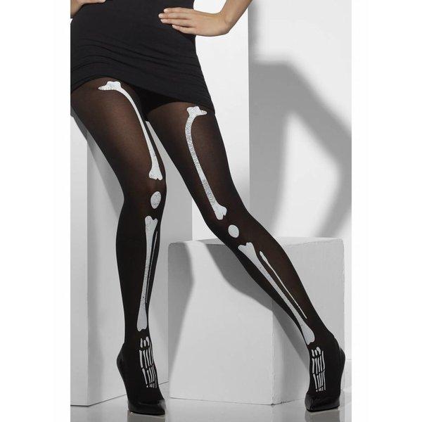 Zwarty panty skelet