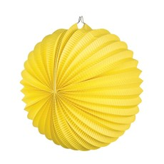 Papieren ballonlampion geel (23 cm)