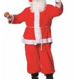Kerstman kostuum 4-delig pluche