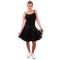 Petticoat zwart 2-laags volwassenen