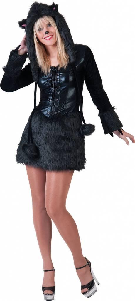 Sexy Zwarte Panter kostuum