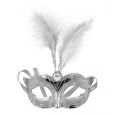 Venetiaans masker metallic zilver