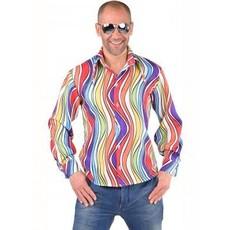 Hippie blouse rainbow waves
