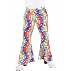 Hippie broek rainbow waves man