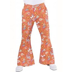 Hippie broek Paisley bruin/oranje