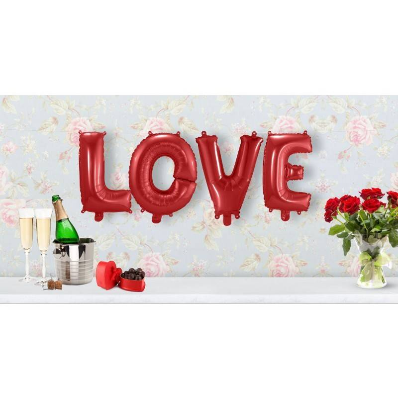Set folie ballonnen 'Love'