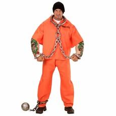 Oranje gevangenis kostuum met tattoo's