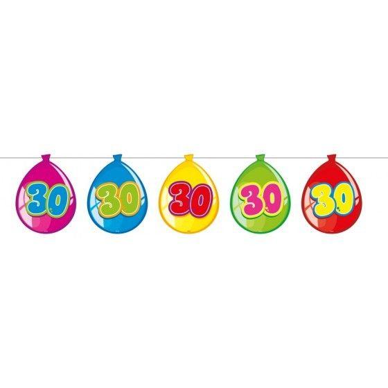 ballonnen 30 jaar Vlaggenlijn ballonnen 30 jaar   Feestbazaar.nl ballonnen 30 jaar
