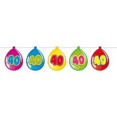 Vlaggenlijn ballonnen 40 jaar