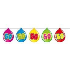 Vlaggenlijn ballonnen 50 jaar
