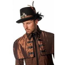 Steampunk hoed met veren