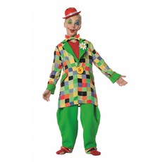 Funky clown jongen kostuum