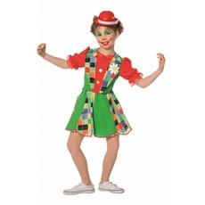 Funky Clown meisjes kostuum