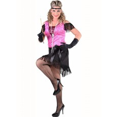 Charleston jurk New York pink