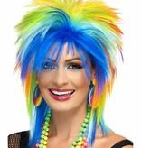 80´s Rainbow punk pruik