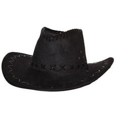 Hoed cowboy suede zwart