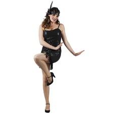 Gala flapper jurkje zwart