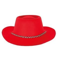 Cowboyhoed flocked rood