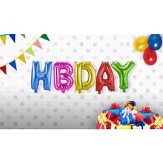 Set folie ballonnen 'HBDAY'