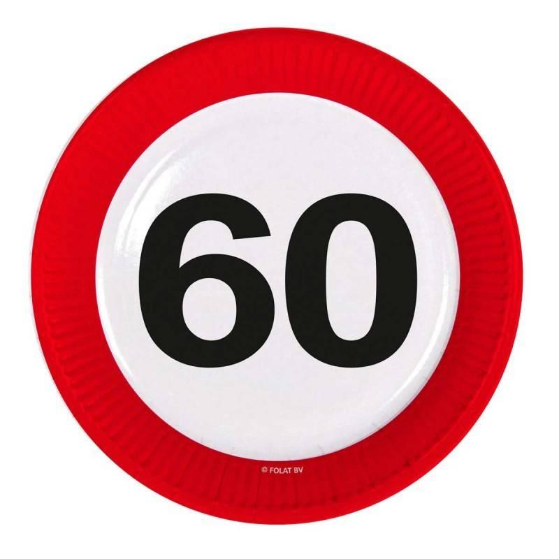 60 jaar verkeersbord borden 8 stuks for Decoratie 60 jaar