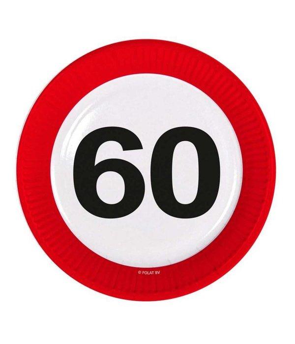 60 Jaar Verkeersbord Borden - 8 stuks