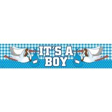 Geboorte jongen gevalbanner 'It's a boy'