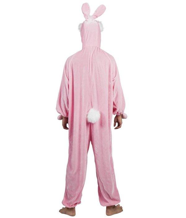 Roze Konijnenpak pluche kind