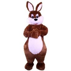 Pluche bruin konijn deluxe met buikje